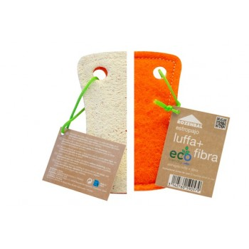 Estropajo natural de luffa con fibra - Eco Friendly