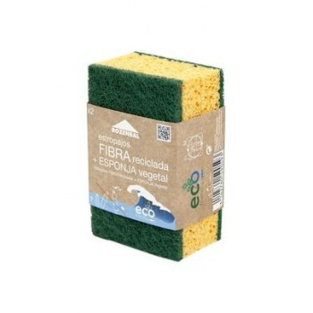 Pack de 2 Estropajos con esponja vegetal - Eco Friendly